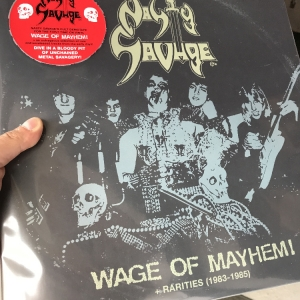 "Nasty Savage ‎– Wage Of Mayhem + Rarities (1983-1985) 12"" LP 2019"